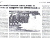 El Comercio Linarense pone a prueba su sistema de control contra incendios