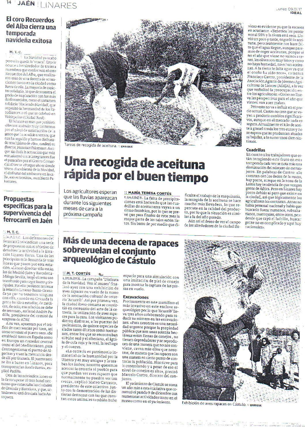 Prensa 9 de enero. Ideal