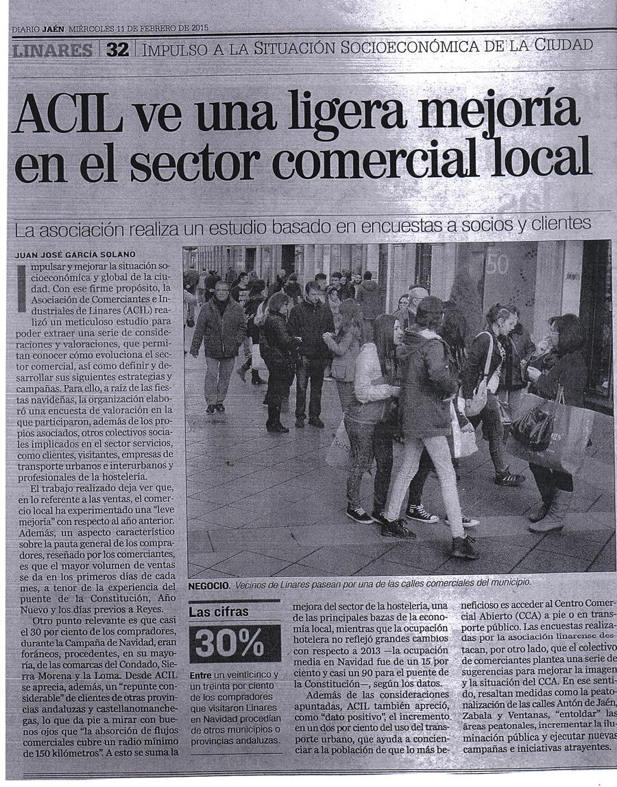 Noticia 11 de febrero. Periódico Jaén