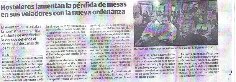 noticia prensa. Jaén 8 mayo