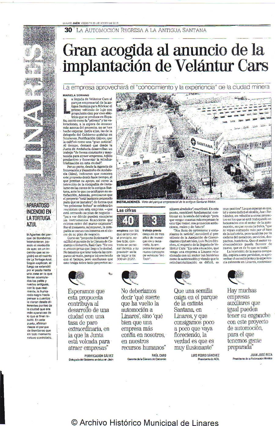 prensa día 29 de mayo. Diario Jaén