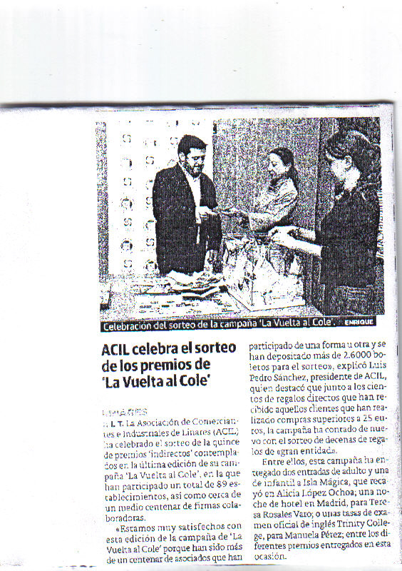 Noticia Campaña Vuelta al Cole. Ideal 28 Oct