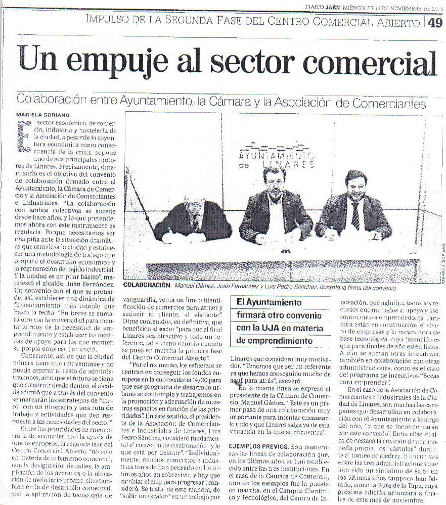 Prensa  11 nov Periódico Jaén