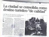 """La Ciudad se consolida como destino """" de calidad"""""""