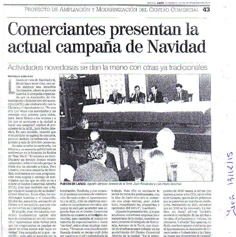 Noticia Jaén 13 dic