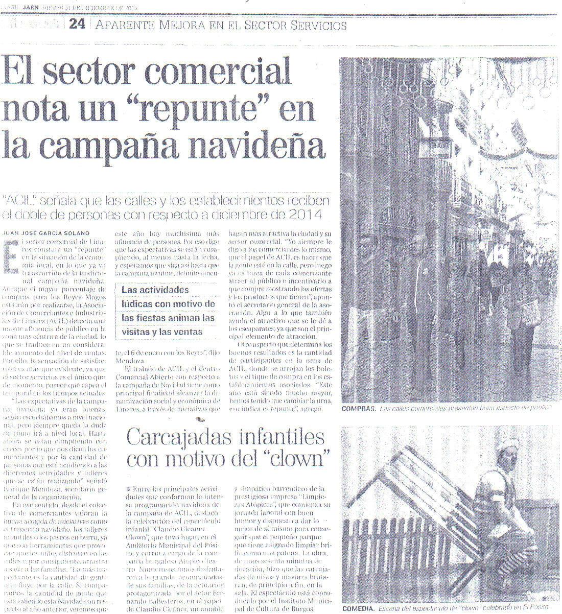Prensa Diario jaén 31 dic