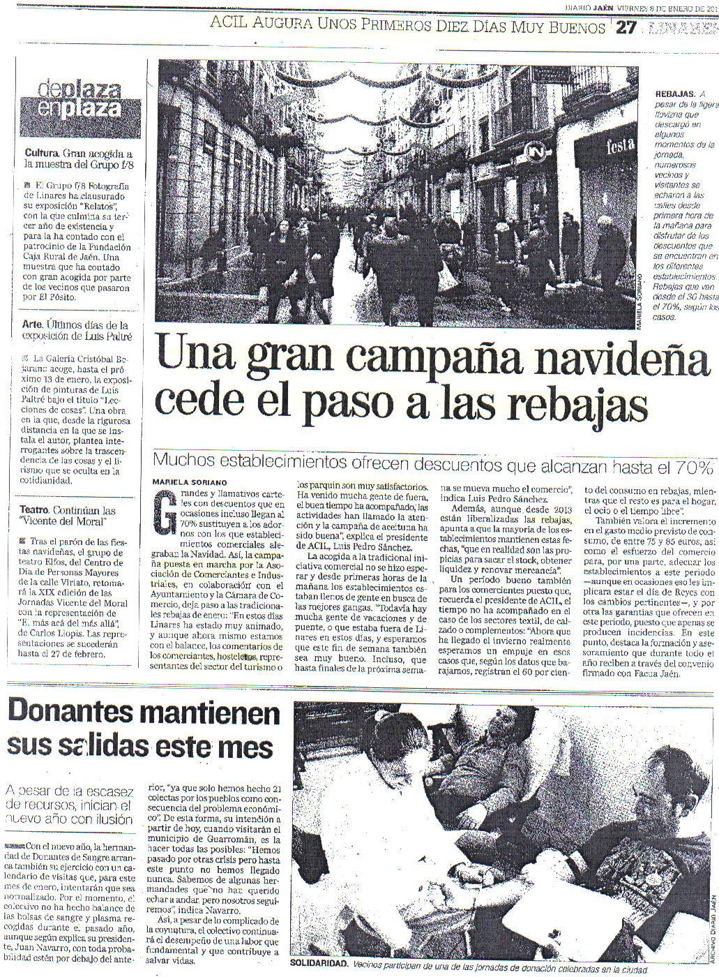 Una Gran Campaña Navideña...... Jaén 8 enero