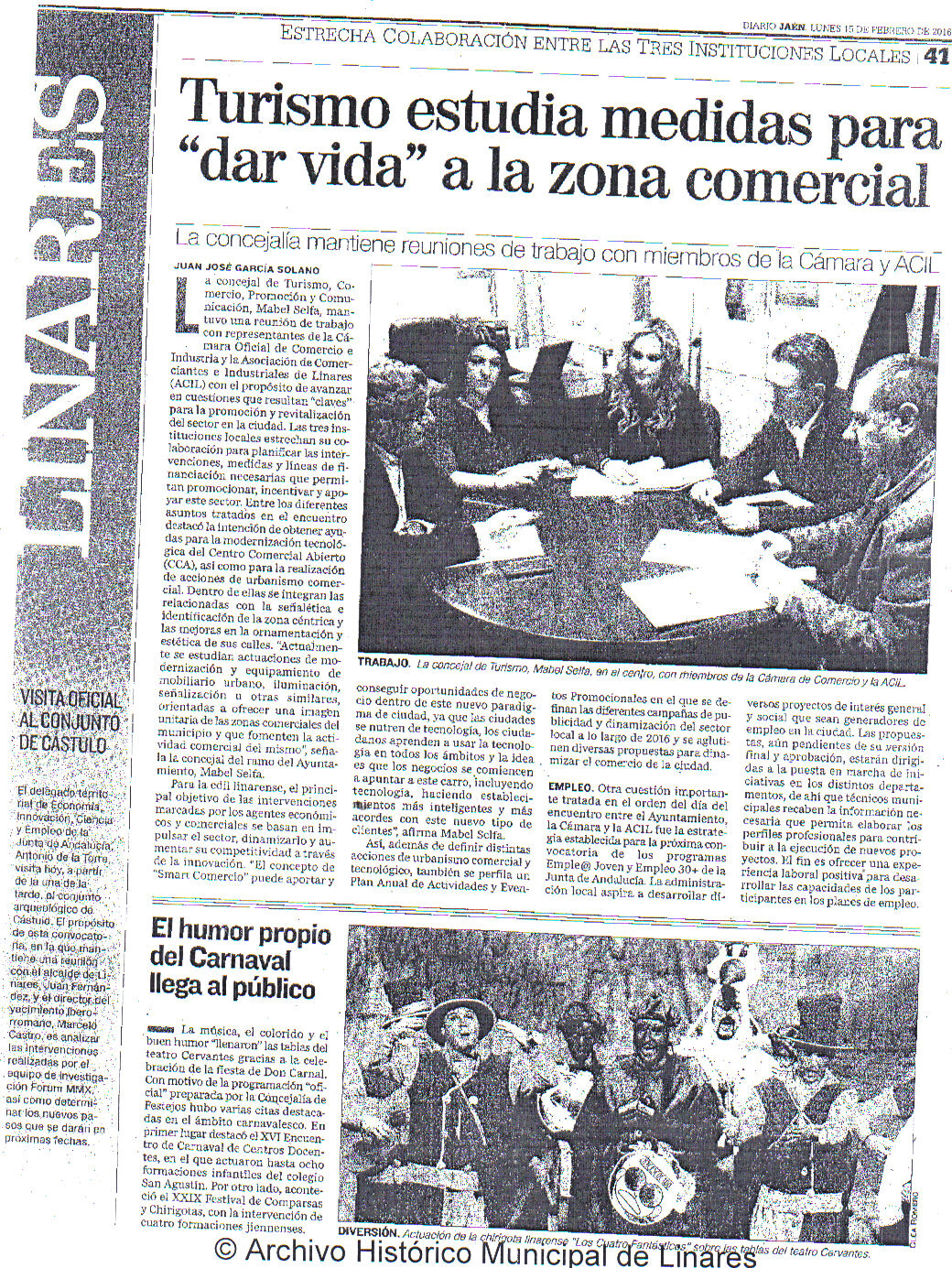 Noticia Prensa 15 Feb Diario jaén