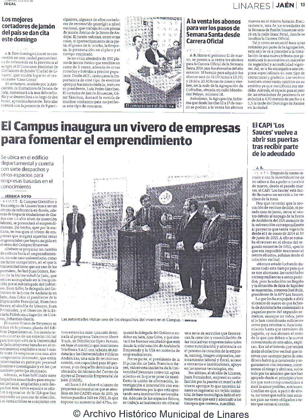Prensa Diario Jaén 3 de marzo