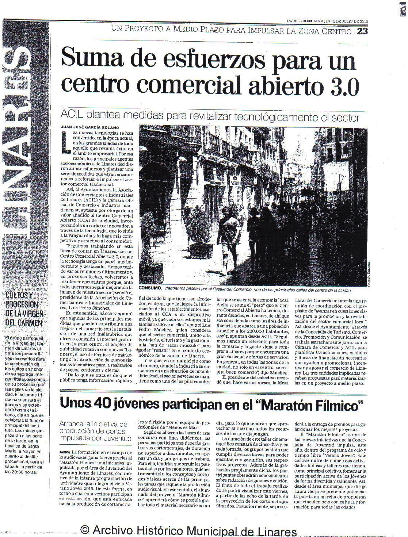 Noticia Diario Jaén 12 julio