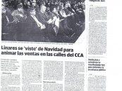 """Linares se """"viste """" de navidad para animar las ventas en las calles del CCA"""