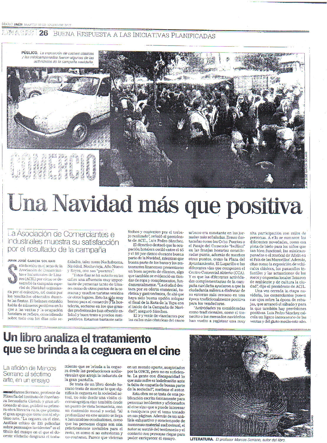 Prensa 10 de enero. Diario Jaen