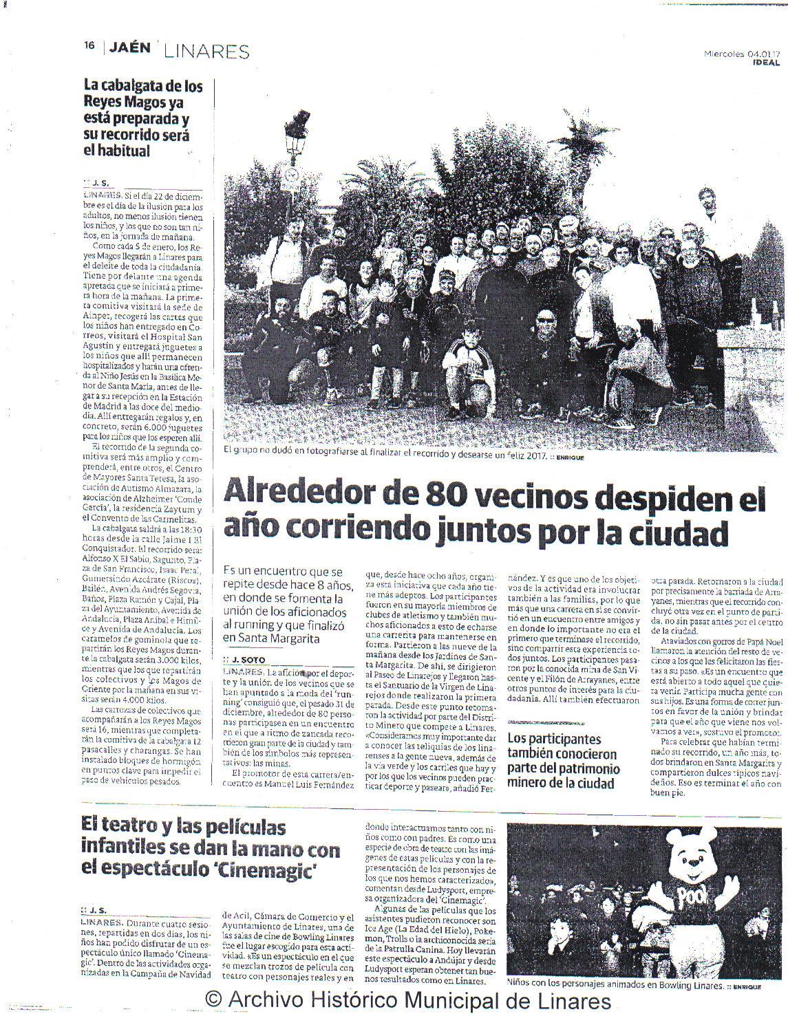 Prensa 4 de enero. Ideal