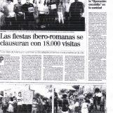 Las fiestas Íbero-Romanas se clausuran con 18.000 Visitas