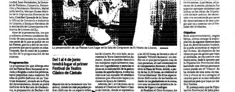 Linares rememora su pasado con las IV Fiestas Ibero-Romanas de Cástulo