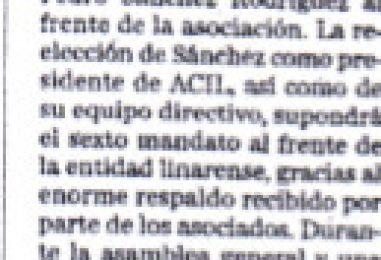 Sánchez Reelegido por ACIL como Presidente