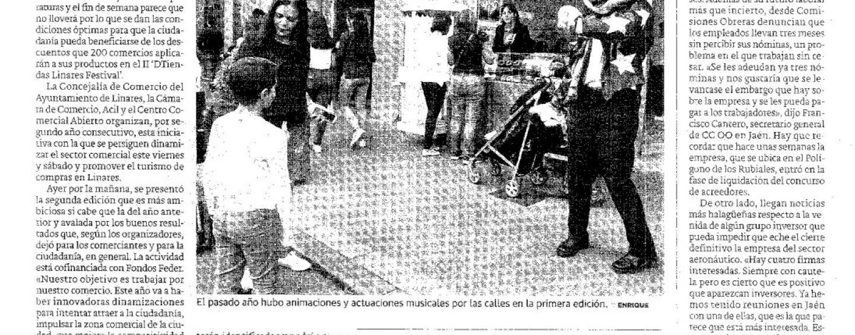 """200 Comercios se suman al """"DTiendas Linares Festival"""" este fin de semana"""