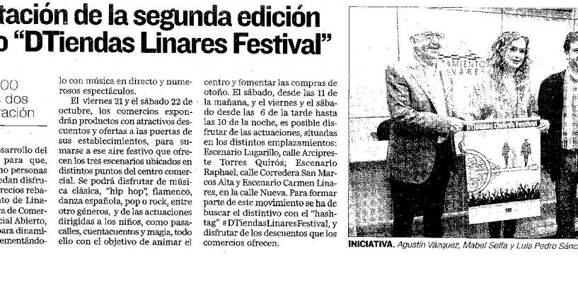 """Presentación de la segunda edición del ciclo """"DTiendas Linares Festival"""""""