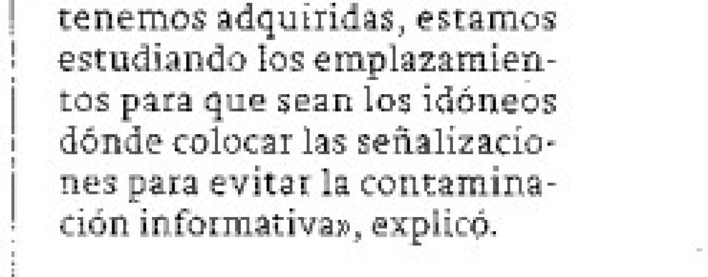 El Plan de Señalización Turística de la Ciudad de Linares ultima detalles