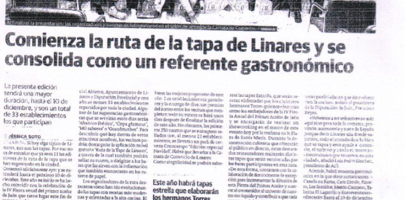 Comienza la Ruta de la tapa de Linares y se consolida como un referente gastronómico