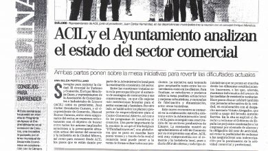 Photo of ACIL y el Ayuntamiento analizan  el estado de sector comercial